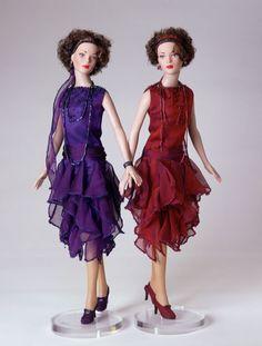 La Mode 1920's Bordeaux (red) & Violet