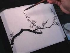 Plum Blossom Chinese Painting Tutorial (2 of 5) - YouTube