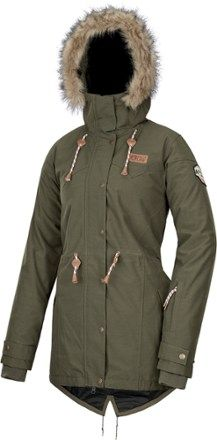 Styled to make you look and feel like an Arctic explorer, the women's PICTURE ORGANIC CLOTHING Katniss insulated jacket keeps you toasty-warm as you ride the powder and tackle mountain pursuits. Available at REI, 100% Satisfaction Guaranteed.