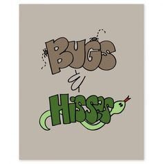 Bugs and Hisses Halloween 8x10 Print