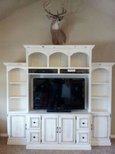 ENTERTAINMENT CENTER. like how the dvd player/vcr is up higher so little ones can't try to stick things in it