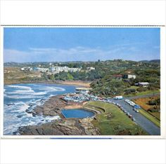 South Africa ~ Uvongo beach ~ scenic view postcard on United Kingdom Margate Beach, South Afrika, Kwazulu Natal, Beautiful Places In The World, Vignettes, Hibiscus, United Kingdom, Roots, Africa