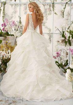 Vestidos de novia Mori Lee: Fotos colección 2016 - Vestido con falda estructurada Mori Lee
