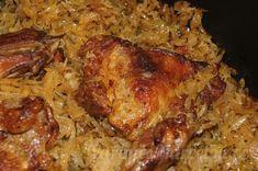 Kachní stehna pečená na zelí v remosce Pork, Treats, Chicken, Kale Stir Fry, Goodies, Pigs, Sweets, Pork Chops, Snacks