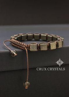 Fools Gold Pyrit Würfel geformt Perlen Herren von CruxCrystals