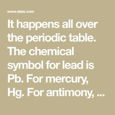 Antimony symbol antimony pinterest periodic table and essentials it happens all over the periodic table the chemical symbol for lead is pb urtaz Image collections