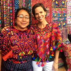 Stunning Guatemala textiles at Chichicastenango with Coleccion Luna... Our new poncho created from vintage Maya huipil