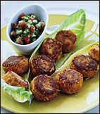 """This recipe was inspired by the incredibly moist lentil patties called küfte that Ana Sortun first tried in Istanbul at Ferda Erdinc's vegetarian restaurant, Zencefil. The küfte here are fried, but they can also be served grilled, baked, or """"raw."""" Terrific Green Salads"""