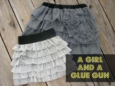 CUTE ruffled skirt tutorial