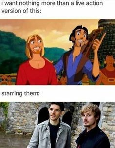 A live action version of the Road to El Dorado with Colin Morgan and Bradley James as Migel and Tulio<<<AGH YES! <<*Whispers* Tulio And Migel were supposed to be a couple Colin Morgan, Merlin Memes, Merlin Funny, Merlin Quotes, Merlin Merlin, Fandoms, Merlin Fandom, Merlin And Arthur, King Arthur