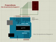 interfacing seven segment display with arduino, interfacing 7 segment with arduino, how to interface 7 segment with arduino,seven segment interfacing with arduino Arduino Circuit, Circuit Diagram, House Design, Display, Inspiration, Projects, Free, Floor Space, Biblical Inspiration