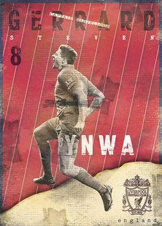 Gods Of Football (Part I) by Marija Marković on Behance -Steven George Gerrard, England God Of Football, Football Icon, Football Is Life, Football Design, Football Art, World Football, Vintage Football, Soccer Art, Soccer Poster