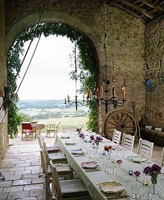 The most wonderful surroundings for a meal