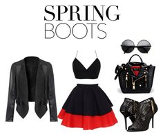 """Spring Boots!!"" by styleiconscloset ❤ liked on Polyvore"