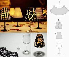 Lamp met Glas ! ... Glas wijn; Zeilen (juiste grootte, zodat het binnen de beker); Die snijden (je kunt gebruiken A4 of een andere naar keuze); En VELLUM vellen :) Super makkelijk ! en mooi ... .