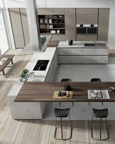87 modern kitchen ideas and decorations for kitchen design Luxury Kitchens Decorations Design Ideas Kitchen Modern Home Design, Luxury Kitchen Design, Kitchen Room Design, Kitchen Cabinet Design, Luxury Kitchens, Home Decor Kitchen, Modern House Design, Interior Design Kitchen, Home Kitchens