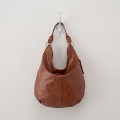 Brown leather hobo