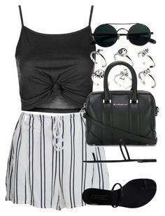 """""""Style  #10741"""" by vany-alvarado ❤ liked on Polyvore featuring Topshop, WithChic, ASOS, Givenchy and Casadei"""