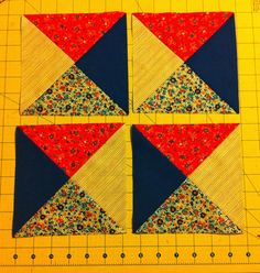 Easy peasy method for making quarter square triangles. No special rulers, no drawing lines ... Nothing fancy :) makes 4 at a time.