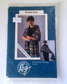 Rainbow Wrap Shawl Sewing Pattern Rag Merchant Womens 2 Sizes
