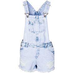 New Look Drop Pocket Dungaree ($33) ❤ liked on Polyvore featuring jumpsuits, jeans, jumpsuit, overalls, playsuits, pale blue, womens-fashion, short jumpsuits, jumpsuits & rompers and short romper