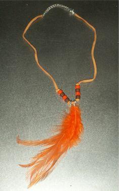 INDIANERSCHMUCK HALSKETTE KETTE FEDER LEDER INDIANER SCHMUCK WESTERN NEU | eBay