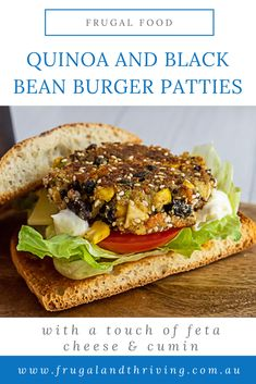 Make these easy quinoa black bean patties ahead of time for an easy mid-week vegetarian meal. The feta cheese and cumin give these patties loads of flavour. #vegetarianburger #vegetarianmeal #frugalmeal Frugal Recipes, Healthy Recipes On A Budget, Frugal Meals, Budget Meals, Black Bean Patties, Black Bean Quinoa, Cheap Dinners, Vegetarian Meal, Black Beans