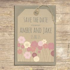 25 Summer Wedding Save The Date Luggage Tags by papertreemedia