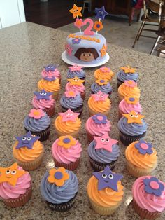 - Dora cake & cupcakes