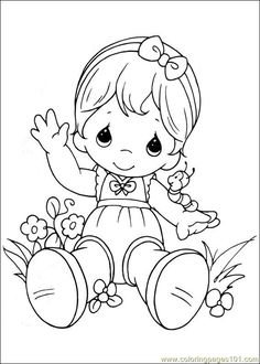 Coloring Pages Precious Moments 03 (Cartoons > Precious moments) - free…