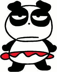 Pandaba Sanrio - A female panda who likes Badtz-Maru.