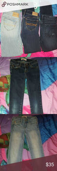 3 pair girls jeans All 3 are size 10 skinny jeans. 2 Abercrombie and 1 Joe's. All 3 cute jeans. abercrombie kids Bottoms Jeans