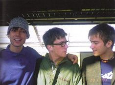 Alex James, Graham Coxon and Damon Albarn   blur
