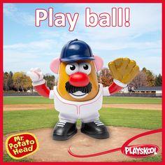 Play ball! mrpotatohead, sports, Baseball, spring, playskool
