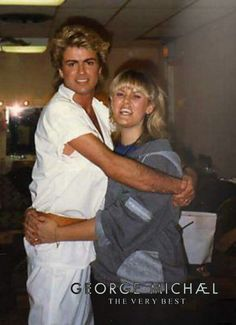 George Michael with fan, Lesley Morrall