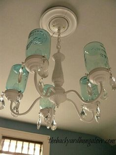 Mason jar lamp. Upcycled, sustainable home.