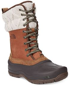 High-performance style. These rugged boots from The North Face were designed to add a smile to your daily commute. | Imported | Waterproof leather upper | Round closed-toe boots  | Waterproof/200g Pri