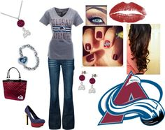 """Colorado Avalanche"" by mrs-mcfarland on Polyvore"