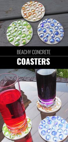 Cool DIY Ideas for Fun and Easy Crafts - DIY Beachy Concrete Coasters - DIY Moon Pendant for Easy DIY Lighting in Teens Rooms - Dip Dyed String Wall Hanging - DIY Mini Easel Makes Fun DIY Room Decor Idea - Awesome Pinterest DIYs that Are Not Impossible To Make - Creative Do It Yourself Craft Projects for Adults, Teens and Tweens. http://diyprojectsforteens.com/fun-crafts-pinterest