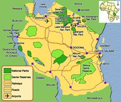 cool Kenya Map Tourist Attractions
