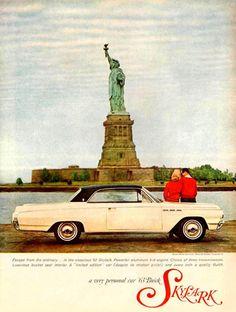 Buick Skylark Statue Of Liberty 1963 - Mad Men Art: The 1891-1970 Vintage Advertisement Art Collection