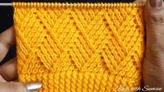 Knit Barfi Stitch Featured Image - This knit Barfi stitch pattern is both a beautiful rhombus stitch that makes a lovely square! There are unlimited knitting projects that you can make with this stitch. Bandeau Crochet, Crochet Cord, Easy Crochet, Crochet Baby, Headband Crochet, Crochet Beanie, Crochet Granny, Easy Knitting, Knitting Stitches