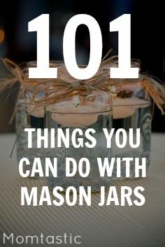 § First Pin : Mason Jars are good for anything. 101 mason jar crafts and DIY with Momtastic. Mason Jars, Mason Jar Gifts, Glass Jars, Canning Jars, Kids Crafts, Jar Crafts, Shell Crafts, Preschool Crafts, Easter Crafts