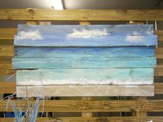 Beach Scene Art by LovingoodShop on Etsy, $100.00