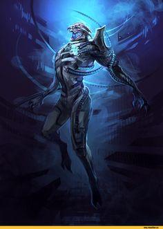 Mass Effect,фэндомы,ME art,Saren