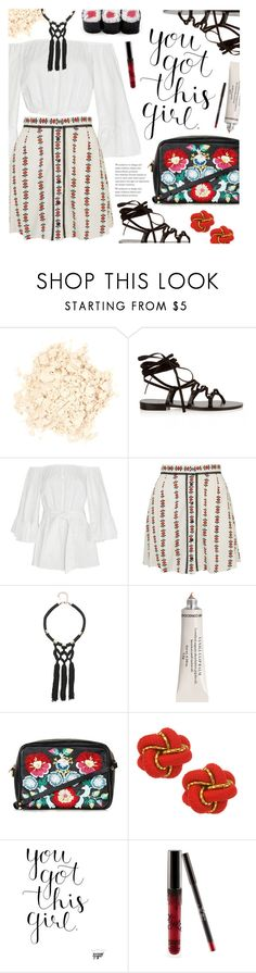 """""""Untitled #1317"""" by noviii ❤ liked on Polyvore featuring Laura Mercier, Yves Saint Laurent, Cameo, Topshop and Bebe"""