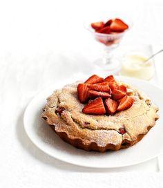 beautiful baked strawberry pancake
