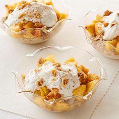 Peach Oatmeal Yogurt Parfait Recipe   MyRecipes.com Mobile