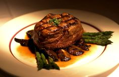 Steak and asparagus is a wonderful combination if cooked correctly. #Food #Fine #Dining