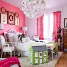 Hot Pink Bedroom Ideas Design, Pictures, Remodel, Decor and Ideas - page 2